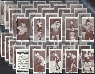 Churchman-Full Set- Boxing Personalities (50 Cards) - Exc