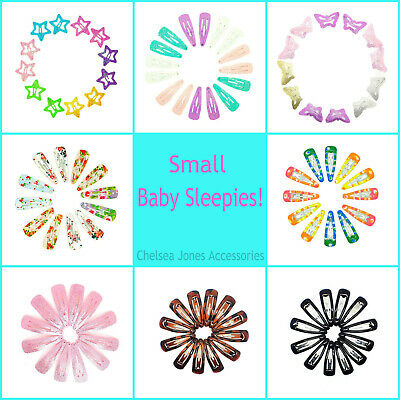 Baby Girls Hair Clips Glitter Small Mini Snap Hair Clip Little Girls Babies Clip
