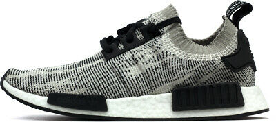 Adidas NMD R1 PrimeKnit Sesame Mens Size Sneakers Shoes White Black AQ0899  New 2fb745af7