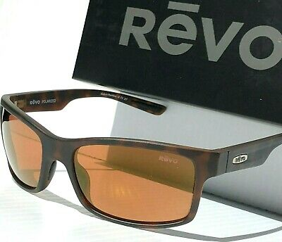 266be6350d NEW  REVO CRAWLER Tortoise Matte POLARIZED Amber Open Road Sunglass 1027 02  OR