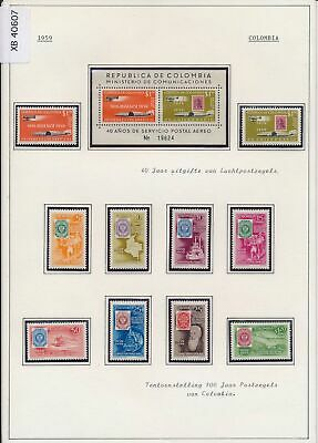 XB40607 Colombia 1959 stamp centenary stamp on stamp MNH