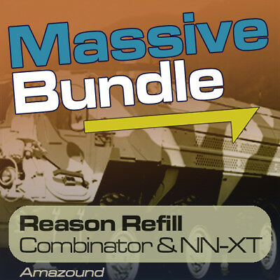 60Gb Massive Synth Reason Refill 6000 Nnxt & Combinator 59000 Samples Mac Pc Rfl