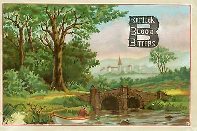 Burdock Blood Bitters*invalid Ladies*hartfield New York*t O Russell*large Card