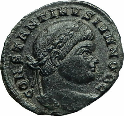 CONSTANTINE II Constantine the Great  son 323AD Ancient Roman Coin Wreath i75847