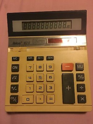 Finance Reliable Vintage Ibico 102s Solar Prop. Battery Power Calculator Retro