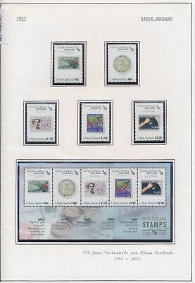 XB40898 New Zealand 2005 stamp anniversary stamp on stamp MNH