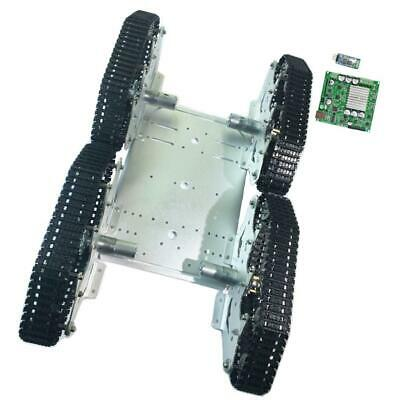 4WD Smart Alloy 9V Motor Silver Robot Car Chassis Kit+ Bluetooth Control Kit