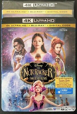Disney The Nutcracker & The Four Realms 4K + Blu-Ray✔☆Mint☆✔No Digital✔Slipcover