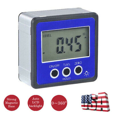 Digital Inclinometer Level Box Protractor Angle Finder Gauge Meter Bevel Magnet