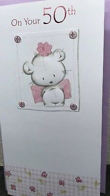 Ladies 50th Birthday Card Fifty Today Age 50