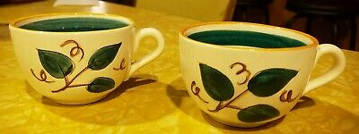 Stangl Pottery FRUIT Coffee Tea Cups Vintage Hand Painted Trenton Replacement