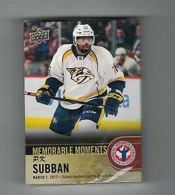 2018 Ud National Hockey Card Day Sp 16 P.k. Subban Memorable Moments Lot (25)
