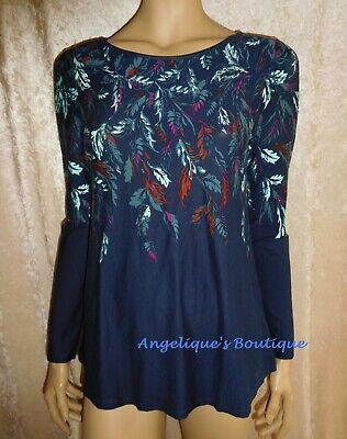 Ex M/&S Per Una Womens Black Lace Trim Jersey Top Short Sleeves Size 12 14