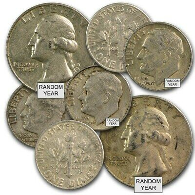 90% Silver Coins Average Circulated $1 Face Value