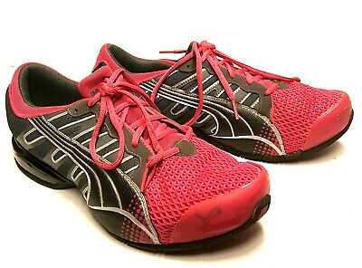 83dd01022a9dc8 PUMA 10 Cell Womens 11 Pink   Gray Low Top Athletic Running Sneakers Shoes  EUC
