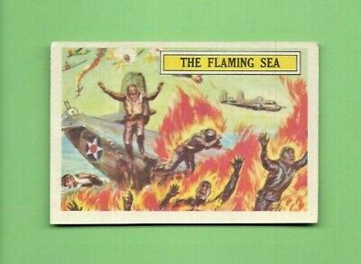 1965 A&bc (Not Topps) Battle Cards British  #40 The Flaming Sea