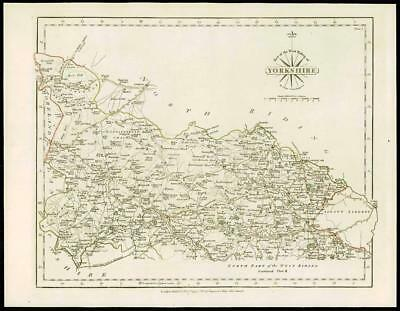 1793 Original Antique MAP of 'YORKSHIRE NORTH WEST RIDING' by John Cary (46)