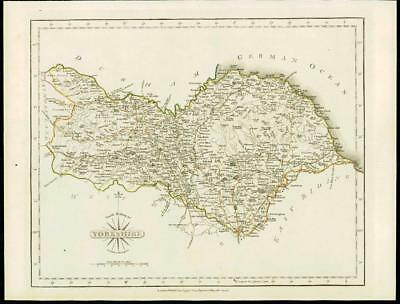 1793 Original Antique MAP of 'YORKSHIRE NORTH RIDING' by John Cary (44)