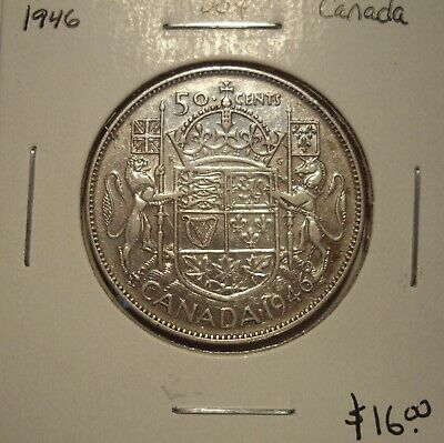 B Canada George VI 1946 Silver Fifty Cents