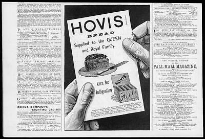 1894 Antique Print Advertising -  Hovis Bread Loaf Biscuits    (008)