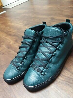53f5f410cb98 BALENCIAGA MENS ARENA Leather High Top Sneakers Size 45 -  185.00 ...