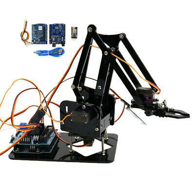 4 Axis WIFI Robotic Mechanical Arm Claw Gripper Clamp w/ Servo For Arduino