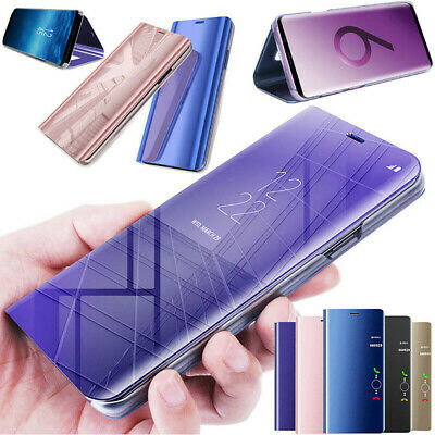 Anti Scratch Clear Mirror Leather Flip Stand Case For Samsung Galaxy S10plus