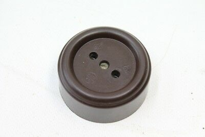 Latest Collection Of 1x Old Socket Bakelite Round Exposed Without Schuko ´s Vintage Art Deco Other Antique Hardware