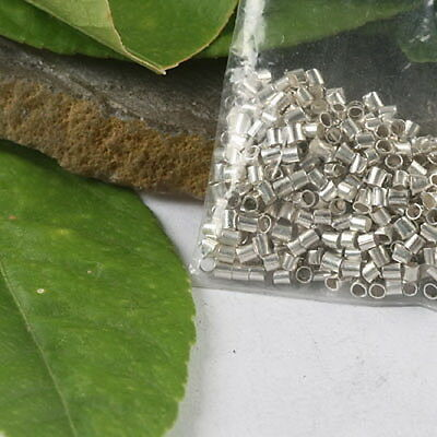 10pcs Silver Tone Round Spacer Beads h5010