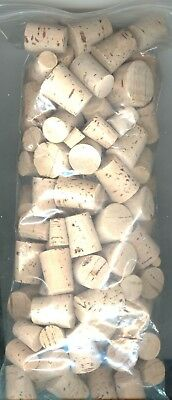 XX QUALITY BARGAIN PRICE! 100 # 10 NATURAL TAPER CORKS MADE IN PORTUGAL