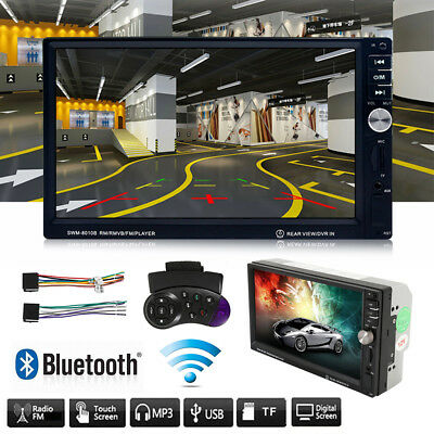 "Double 2 DIN Android 3G 7"" Bluetooth Car Stereo DVD CD MP5 Player Radio HM"
