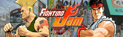 "Fighting Jam Arcade Marquee 26"" x 8"""