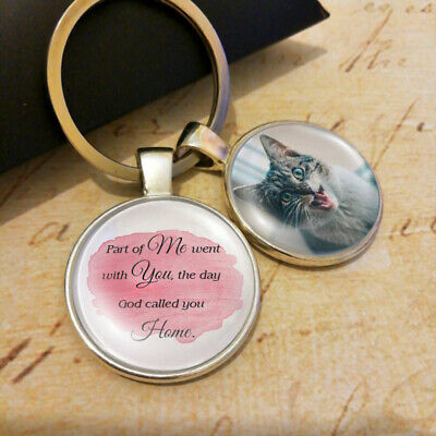 Memorial Pet Lose Jewelry Remembrance Charm Dog Cat Photo Personalized Keyring