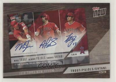 2019 Topps 2018 Now Review #TN-9 Mike Trout Albert Pujols Shohei Ohtani Card