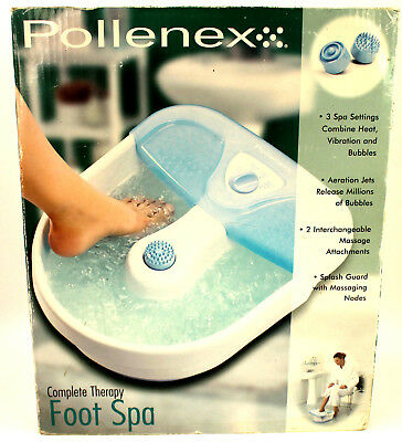 Pollenex PFB10S Complete Therapy Foot Spa NEW Factory Packaged - Box Shelf Wear