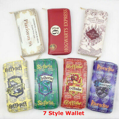 7 Style Harry Potter Wallet Purse PU Leather Stamp Zip Handbag Cosplay Gift AU