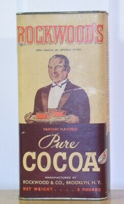 Antique Rockwood Cocoa 2Lb  Chocolate Can