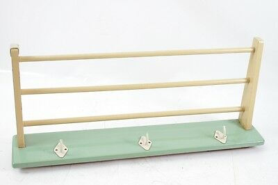Old Wardrobe Hangers Hat Rack Hook Rail Wood Cult Retro 1950s Years