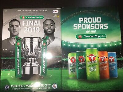 Chelsea v Manchester Man City 2019 Carabao Cup Final Programme 24th February 19