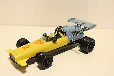 Vintage Very Rare Large 26 Sm Romania Plastic And Metal Wind-Up Formula  Car Toy