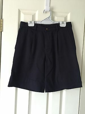 Navy School Shorts Boys/Teens -Size 14 -Tailored-Scags- Very Good Used Condition