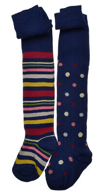 2 pairs of Spots & Stripes Baby Tights - Cotton 18-24 months