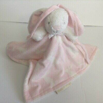 Blankets And Beyond Bunny Pink Security Blanket Lovey Pacifier Holder Rabbit