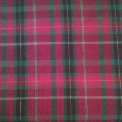 HOMESPUN Christmas Red Green Checked Cotton Fabric BTY