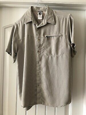 2d133b2e7 THE NORTH FACE Men's Button Up Short Sleeve Size Medium Green and ...