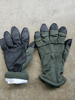 US Military Winter NOMEX FLIGHT FLYERS GLOVES PILOT FIRE RESISTANT Size 10