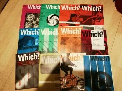 Vintage Which? Magazine 1964, all 12 issues for year