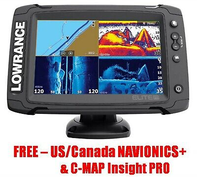 Lowrance Elite-7 Ti TotalScan Transducer Chartplotter Nav+ & C-MAP Insight PRO