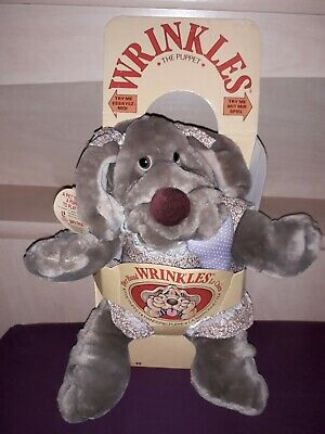 Wrinkles Ganz Vintage Girl Dog Puppet MINT in box HTF