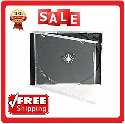 Disc Jewel Cases 10.4Mm ,25 Standard Single Clear CD With Assembled Black Tray